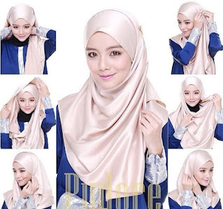 Hijab Satin Segi Empat Warna Putih Hijab Converse