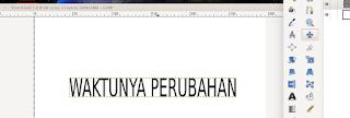 Teks di ketik di GIMP