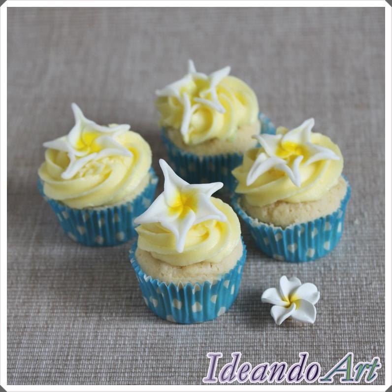 Cupcakes limón plumerias