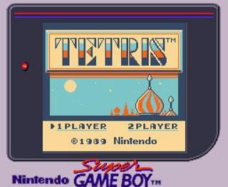 ''Tetris'' sullo schermo del Super Game Boy