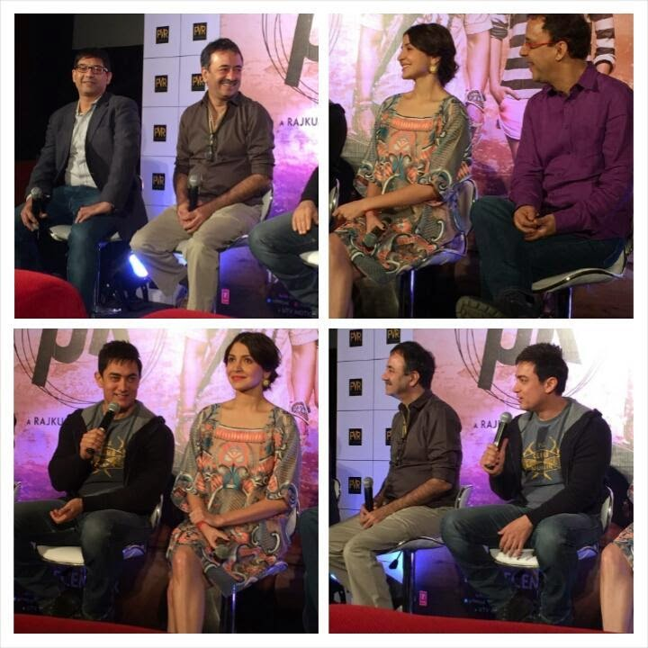 Aamir Khan and Anushka promotes their upcoming PK in Hyderabad