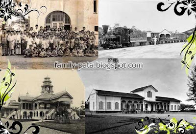 Penduduk Asli Negeri Langkat dan Istana Langkat (Kiri) dan Kolonial Belanda (Kanan)
