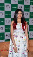 Bollywood Actress Adah Sharma Pos in White Printed Short Dress at OPPO F3 Plus Selfie Expert Mobile Launch .COM 0036.jpg