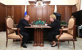 С Министром здравоохранения Вероникой Скворцовой.