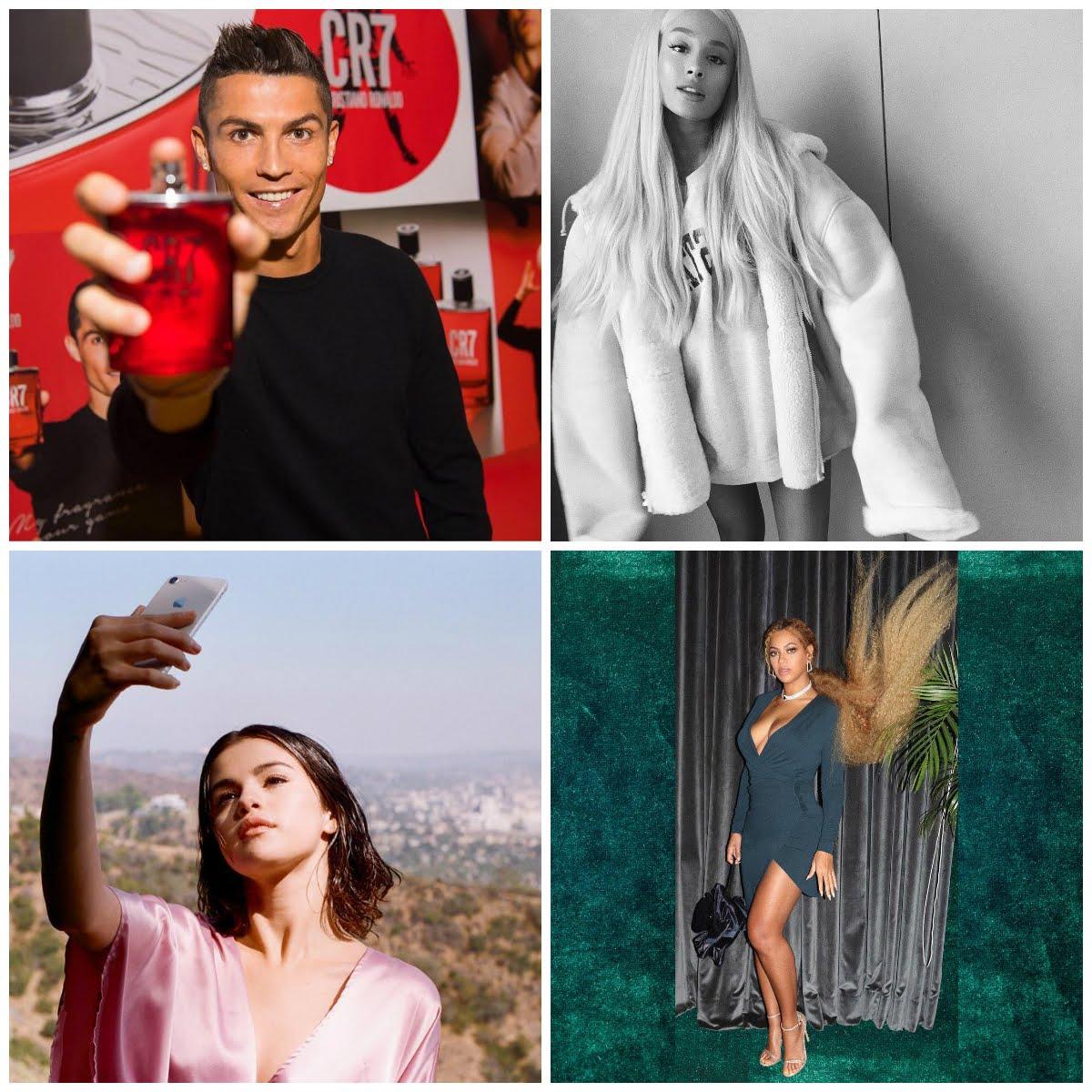 Selena Gomez Cristiano Ronaldo Ariana Grande Beyoncé Instagram