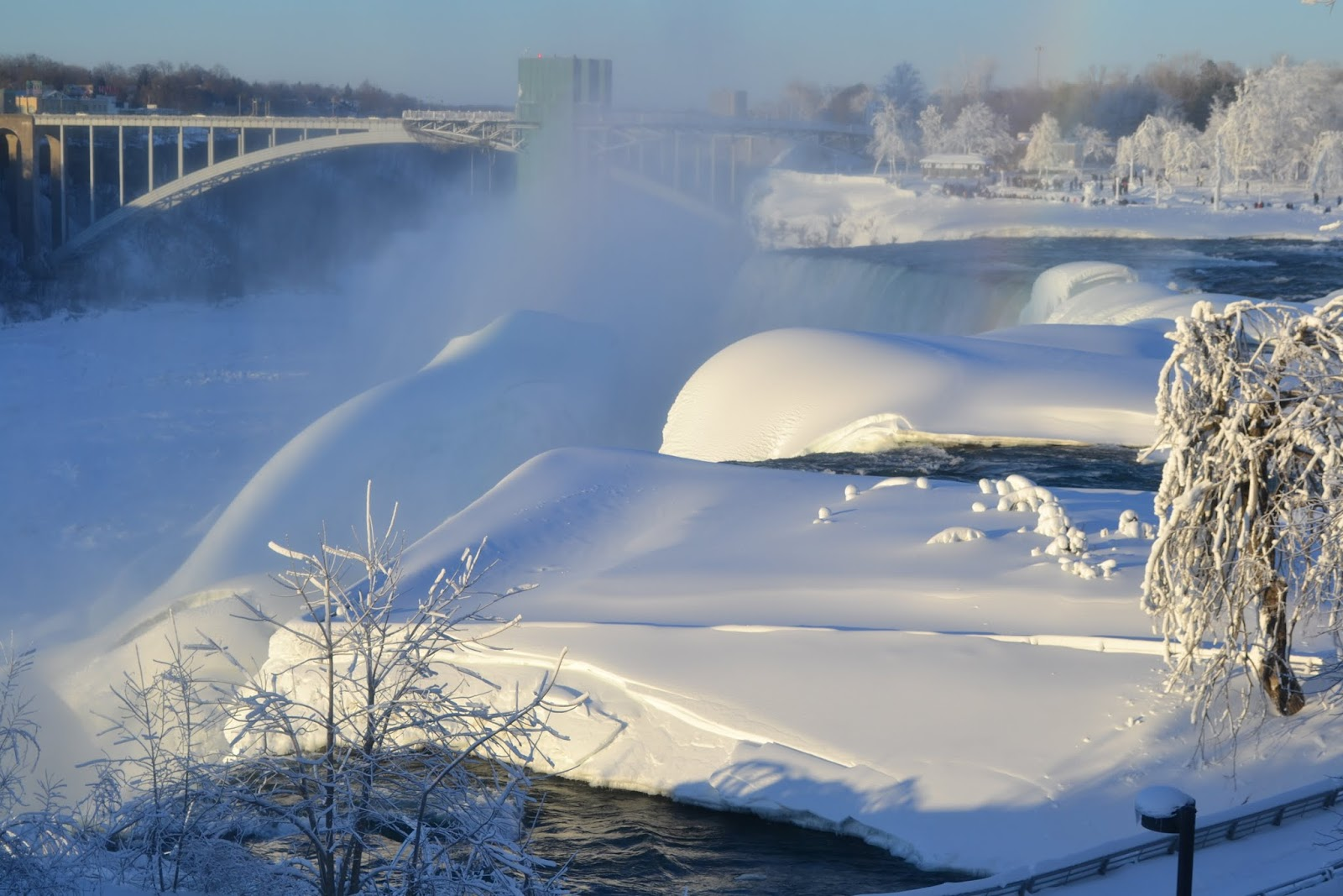 Зима на Ниагарских водопадах, Нью Йорк (Niagara Falls, NY)