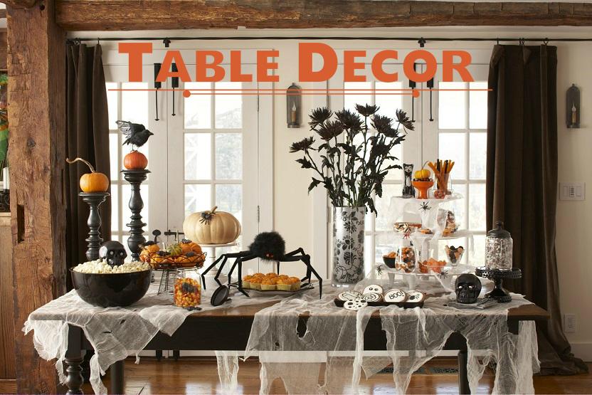 halloween table decor. Black Bedroom Furniture Sets. Home Design Ideas