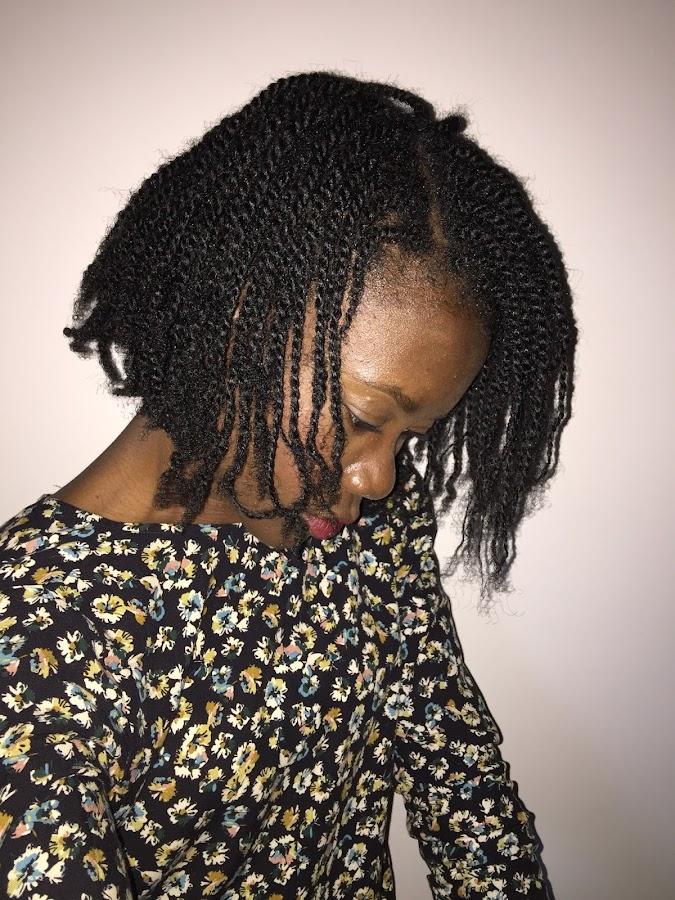 twist con pelo afro
