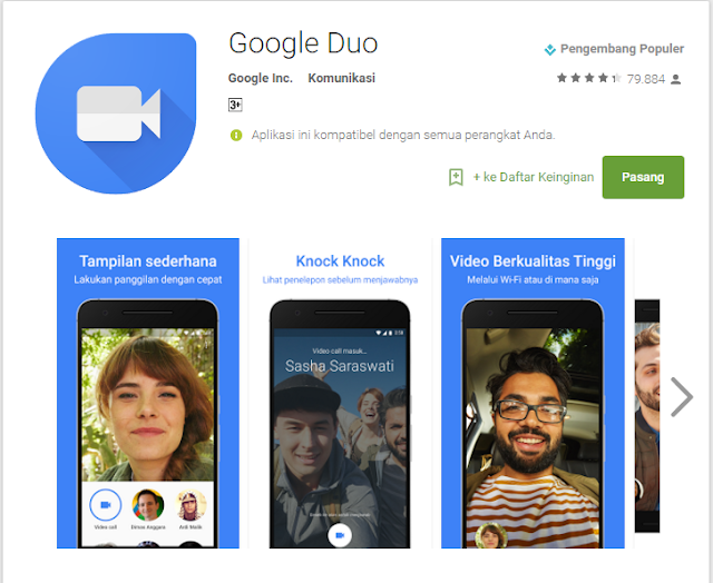 Google Duo Applikasi Video Call Laris Manis Buatan Google