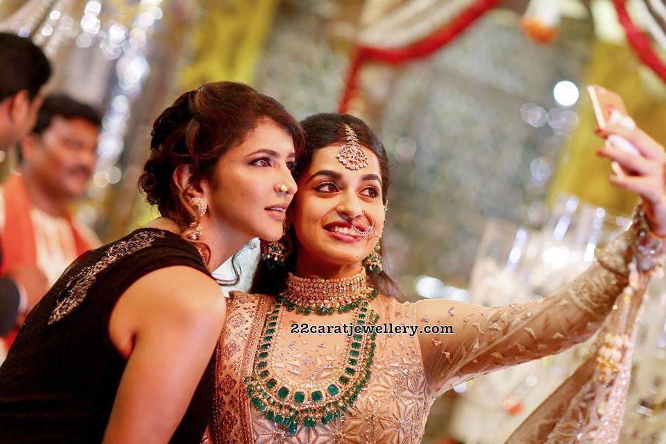 Lakshmi Manchu At Vasundhara Son Wedding Jewellery Designs