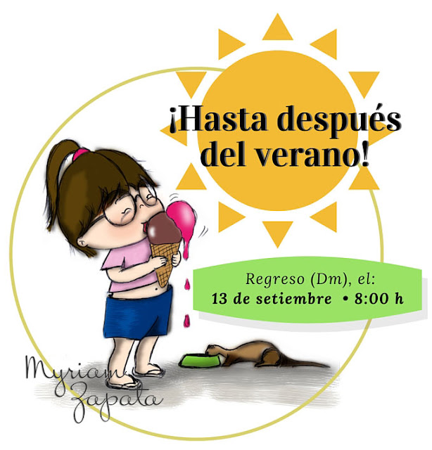 Vicky tomando helados por Myriam Zapata