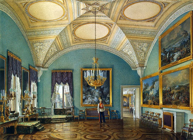 St Petersburg Russia Castle Interior Painting