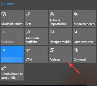 Proietta su Windows 10