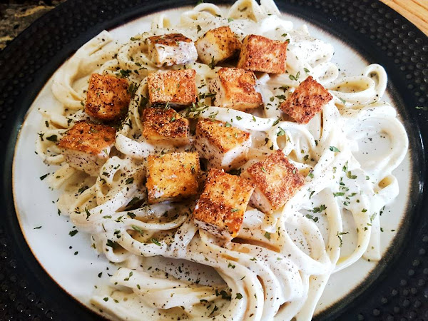 Blackened Tofu Alfredo