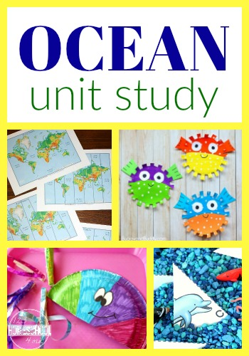 Oceans Unit Study filled with so many creative ideas for your complete lesson plan for kids in preschool, kindergarten, first grade, 2nd. (tons of free printables for under the sea)