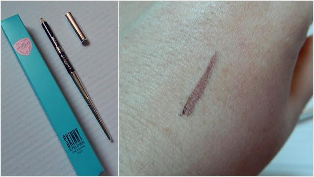 Eyeko Skinny Eyeliner in Plum 0.8g (full size) hand swatch