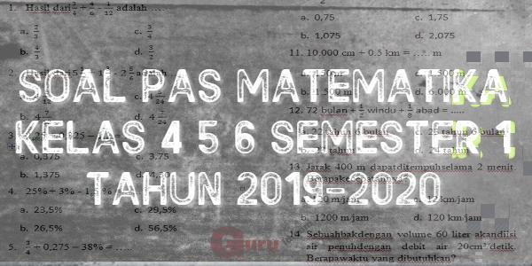 GAMBAR SOAL pas matematika SD semester 1 2019