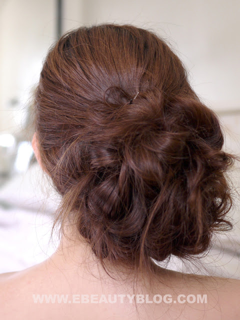 EbeautyBlog.com: Bridal Messy Side Bun Hair Tutorial