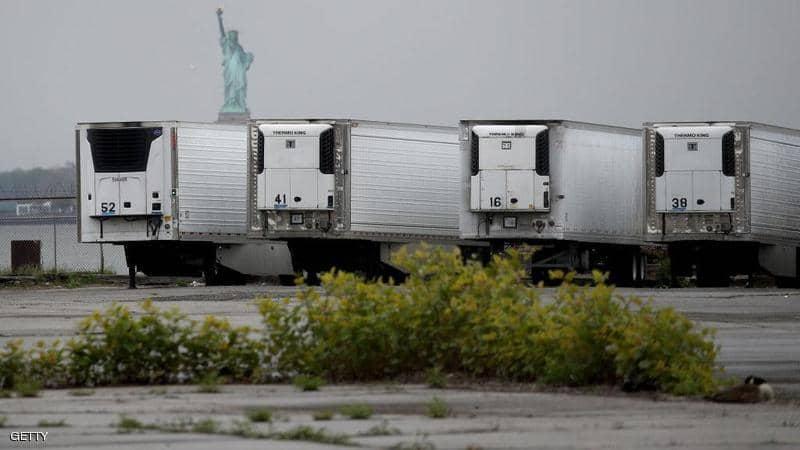 كورونا-نيويورك-تلجأ-مشرحة-الشاحنات-لتبريد-الجثث