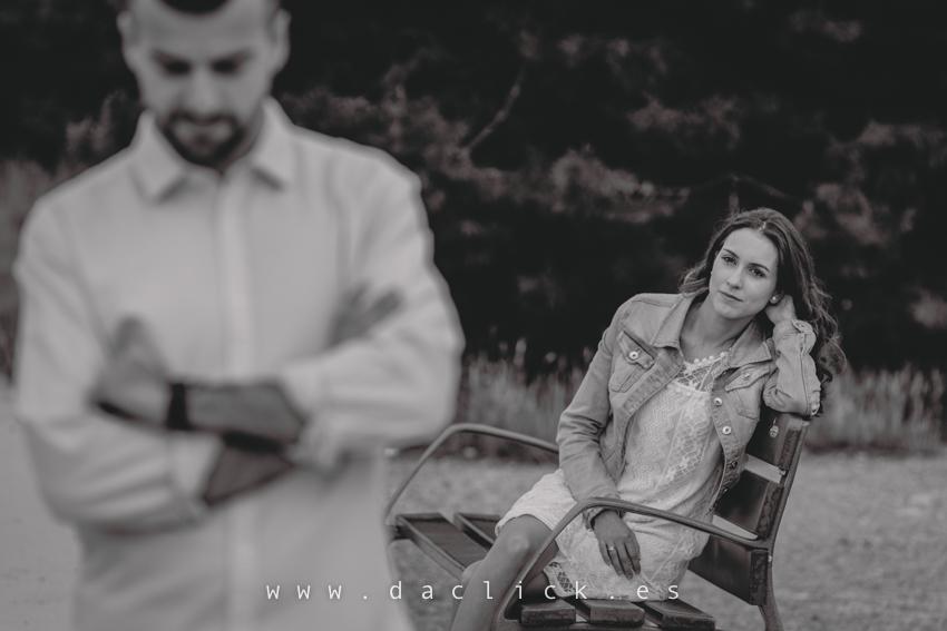 pareja en entorno rural