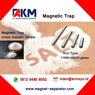 Magnetic Trap Rod Untuk Industri Garam