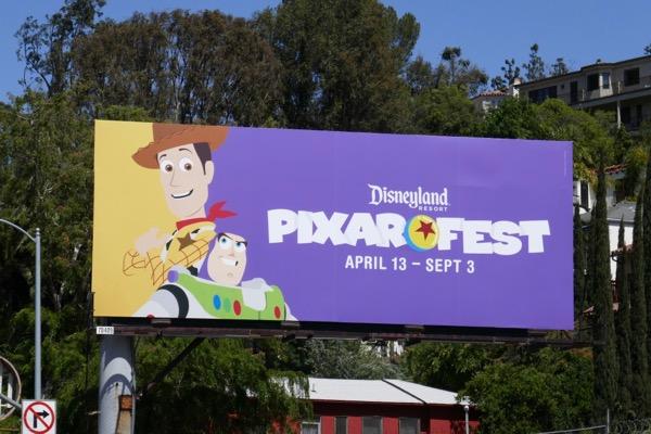 Disneyland Pixar Fest billboard