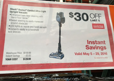 Shark Rocket Ultra Light Upright Vacuum Costco Weekender