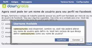 Criar endereço personalizado no Facebook