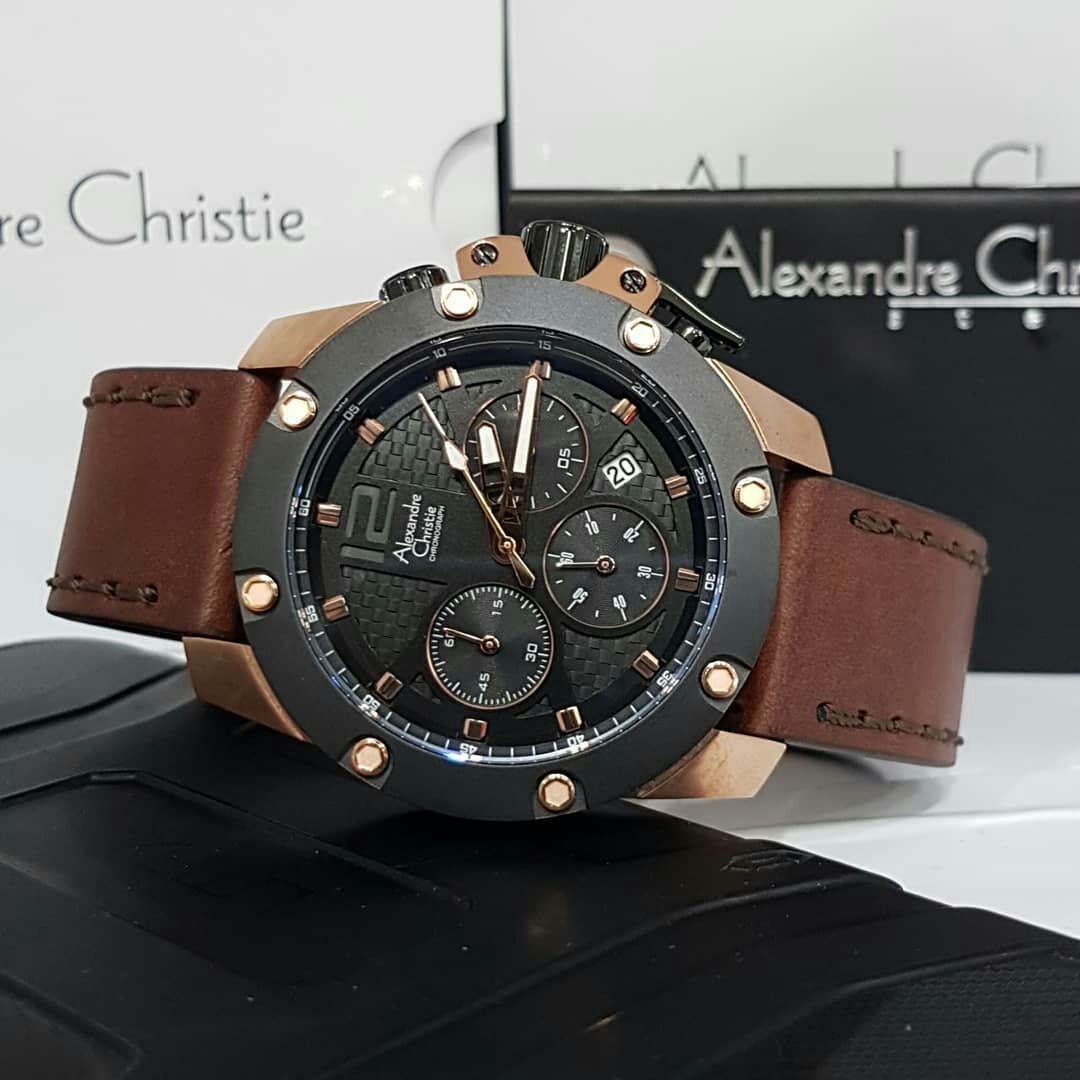Alexandre Christie Jam Tangan Pria Rosegold Ac944 Coklat4 Update Coklat Men 6290 Mc Black Original Diameter 46cm Tanggal Aktif