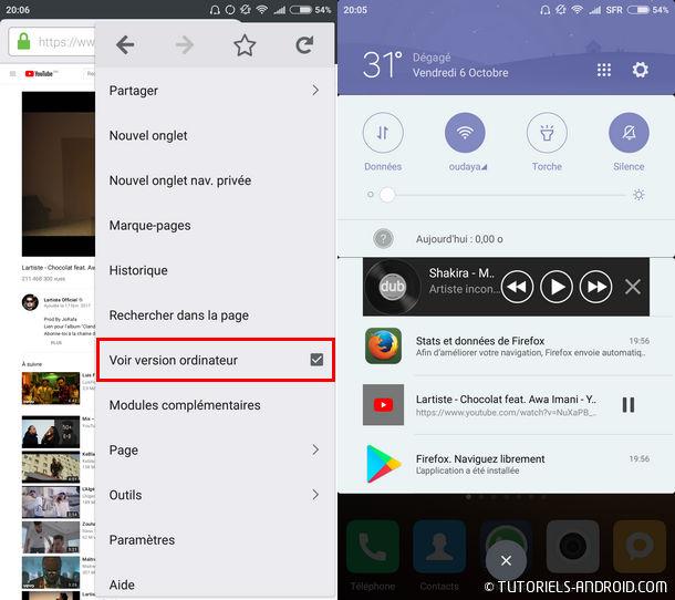 Lire Youtube en arrière plan avec Firefox Android