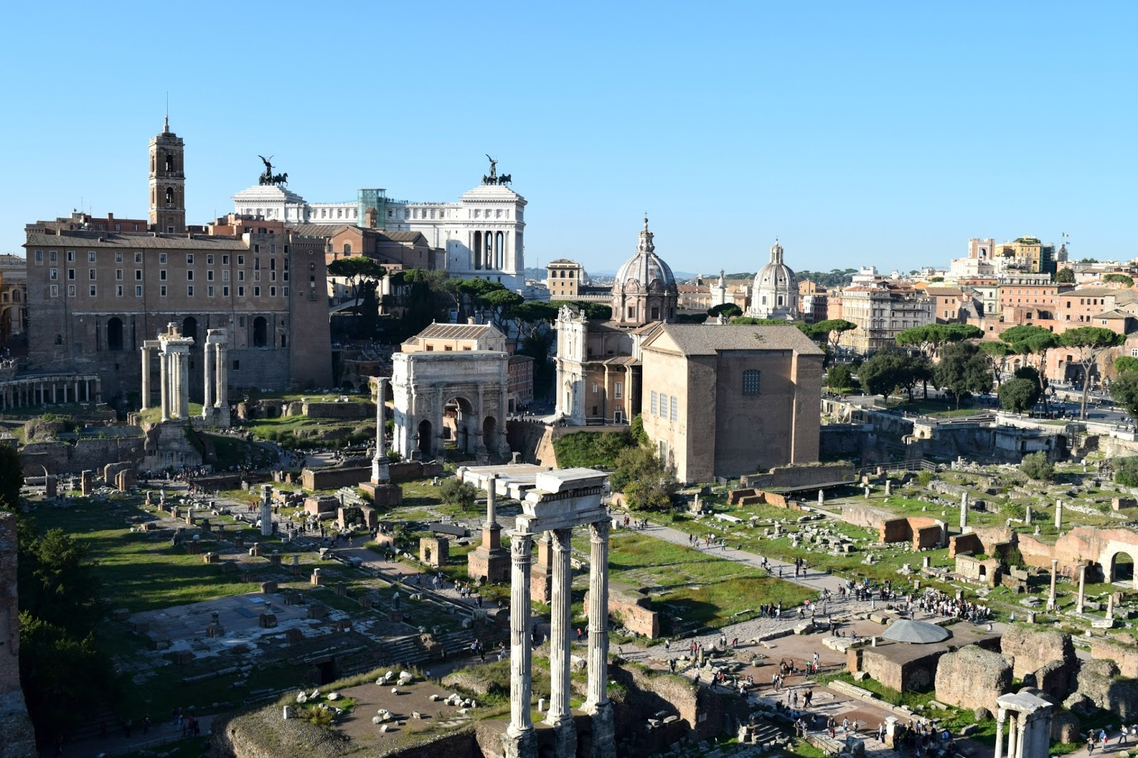 forum romano with view of rome