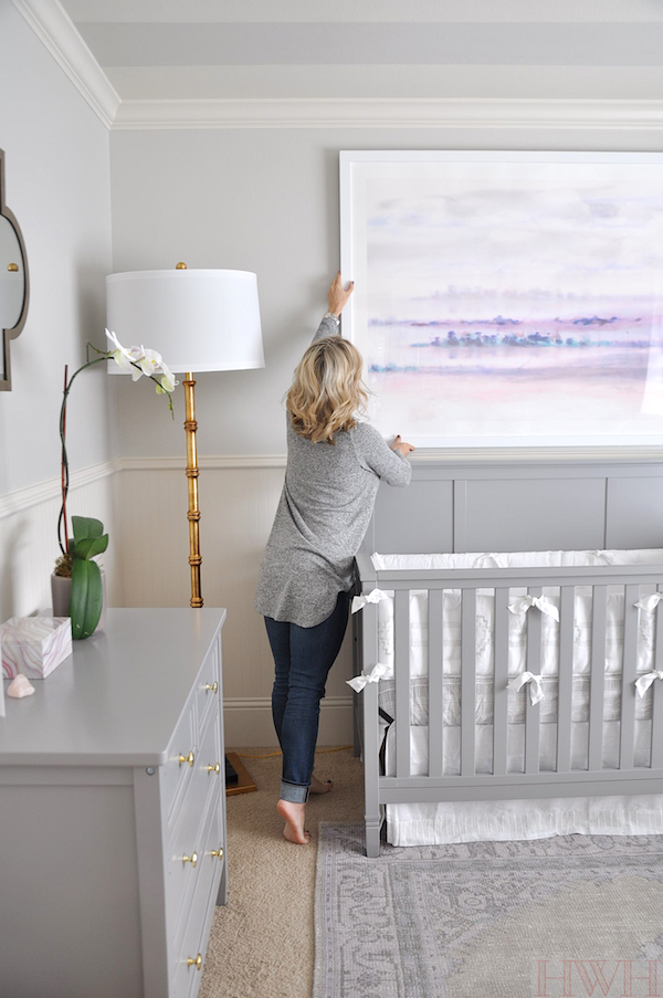 Baby Girl's Lavender Nursery, large abstract art from Minted| Honey We're Home