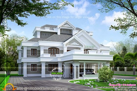 Super luxury house view