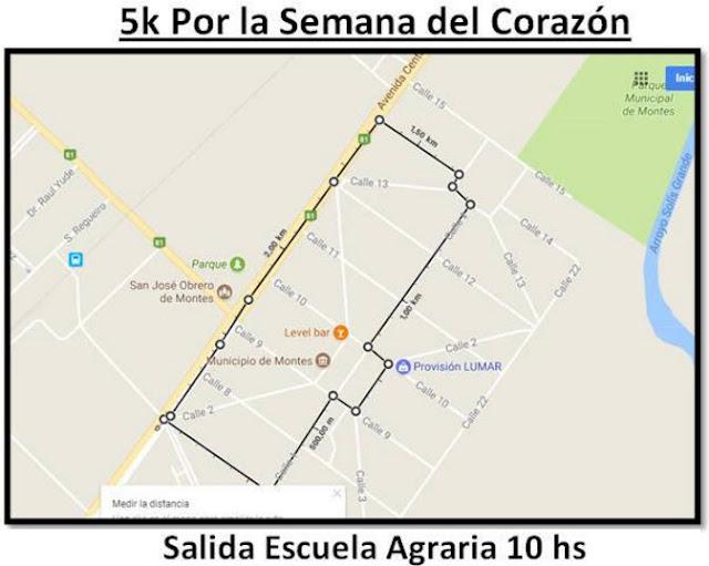5k de la Escuela Agraria de Montes por la semana del corazón (Montes - Canelones, mi 27/sep/2017)