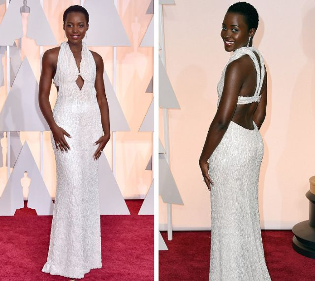 Lupita Nyong'o in Calvin Klein Collection at the Academy Awards 2015