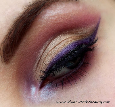 Purple Gold Cut Crease makeup