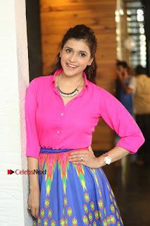 Actress Mannar Chopra in Pink Top and Blue Skirt at Rogue movie Interview  0162.JPG