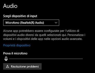 soluzioni microfono audio