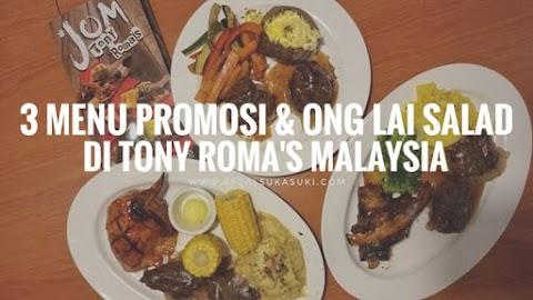 3 Menu Promosi Dan Ong Lai Salad Di Tony Roma's Malaysia