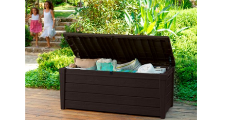 Keter Brightwood Plastic Deck Storage Box Outdoor Patio Garden Furniture 120 Gal, Keter Deck Box, Keter Deck Box Seat, Keter Deck Storage Box, Keter Outdoor Storage Bench, Keter Plastic Deck Storage Container Box, Keter Resin Deck Box, Lockable Keter Deck Box, keter,