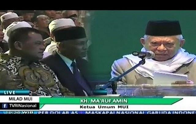 "Di Milad MUI, Panglima TNI Disambut Tepuk Tangan Meriah, Kapolri Disoraki ""Huuu"""