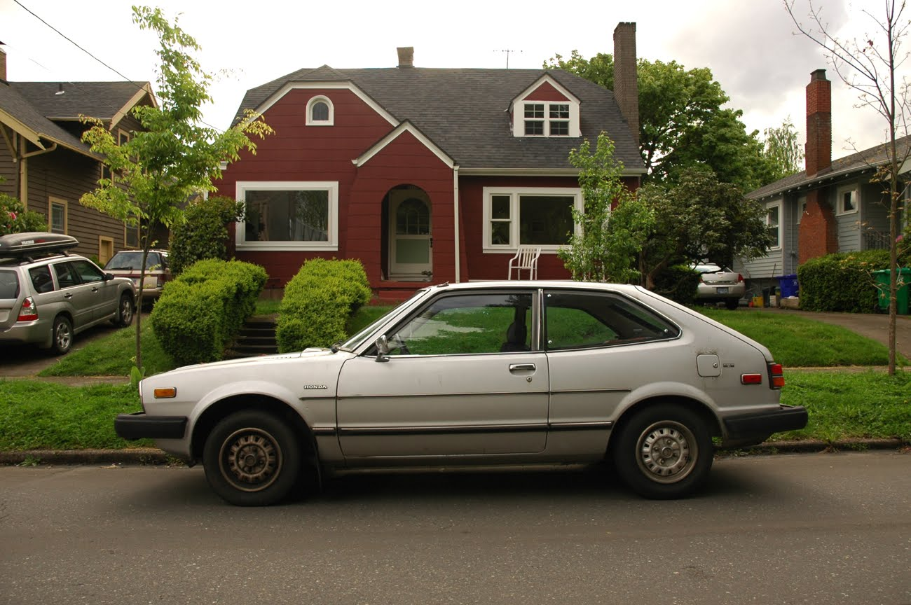 OLD PARKED CARS.: 2 Silver Beans on 1 Block: 1980 Honda ...