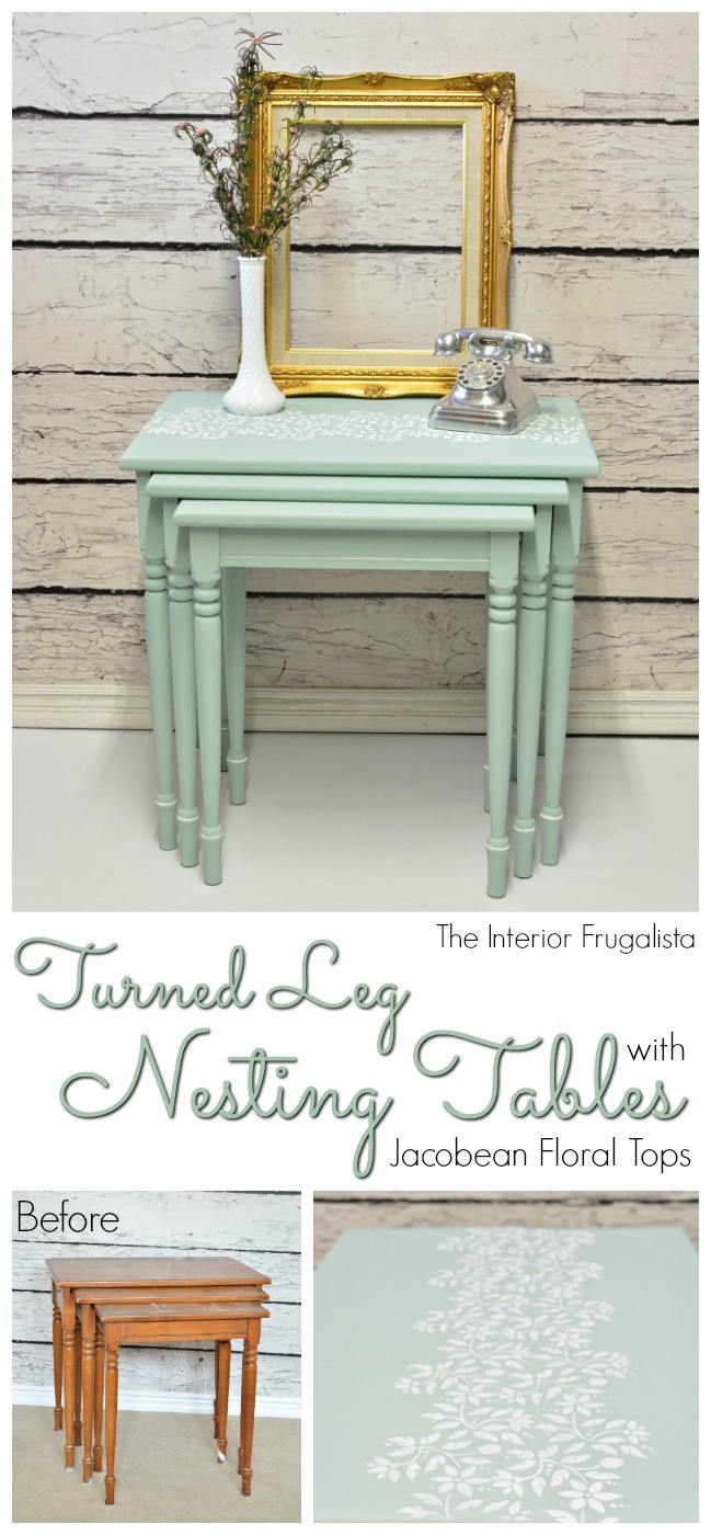 Turned Leg Nesting Tables Before and After