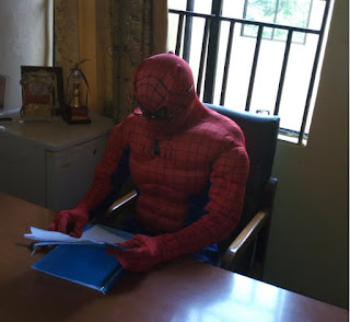 Lecturer Turns Spiderman To Attend To Students (See Pics) - ASUU STRIKE