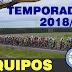 Equipos confirmados para la temporada 2018/19
