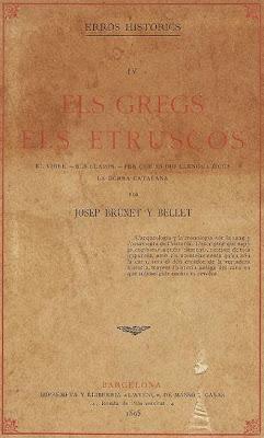 Tomo 4 de Errors Histórich de Joseph Brunet i Bellet: Els grecs, els etruscos