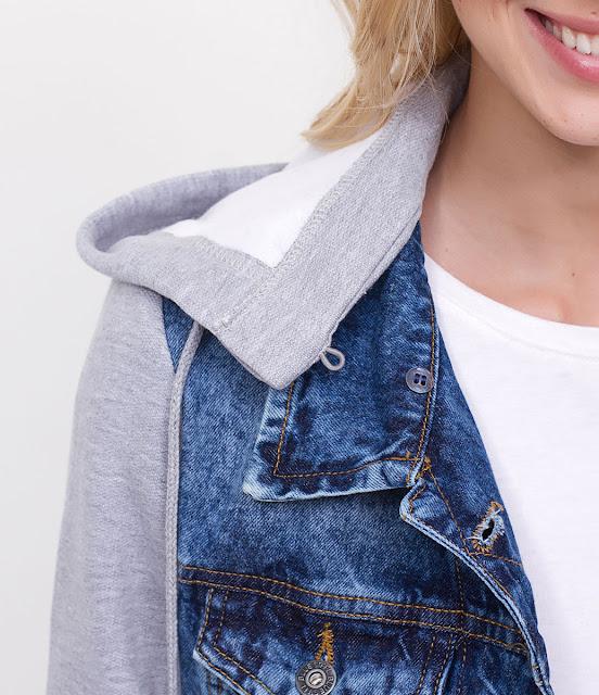 Lojas Renner Jaqueta Jeans Com Capuz