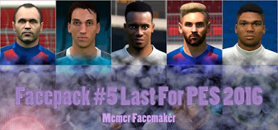 PES 2016 Facepack #5 Last by Memer Facemaker