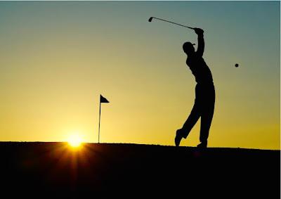 Golf tramonto