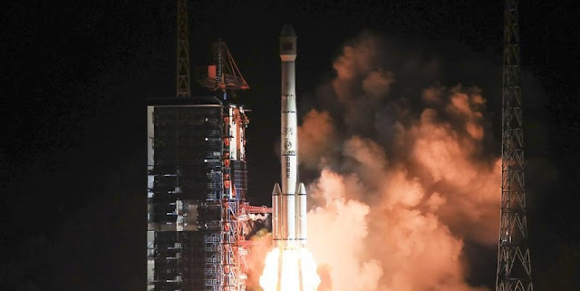 Long March-3C carrier rocket blasts off from the launch pad at the Xichang Satellite Launch Center in Xichang, southwest China's Sichuan Province, Dec. 25, 2018. China successfully launched the No. 3 telecommunication technology test satellite on Tuesday. (Xinhua/Wang Yulei)